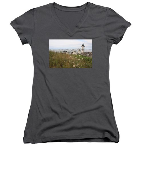 Marshall Point Daisies Women's V-Neck (Athletic Fit)
