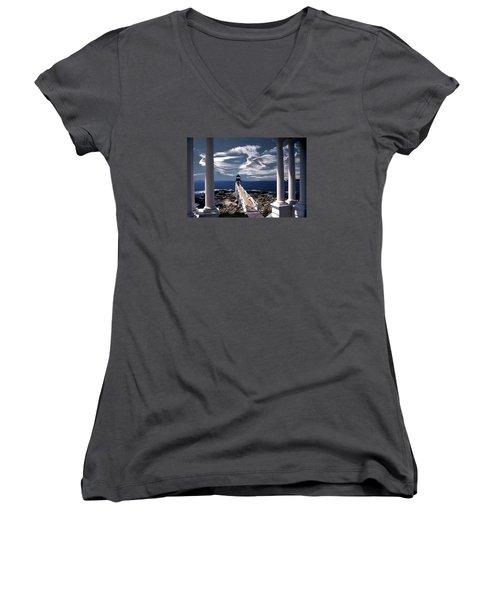Marshall Point Lighthouse Maine Women's V-Neck T-Shirt