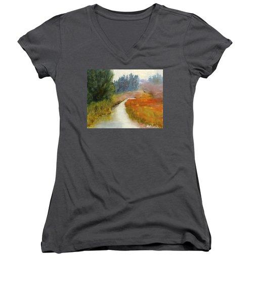 Marshes Of New England Women's V-Neck