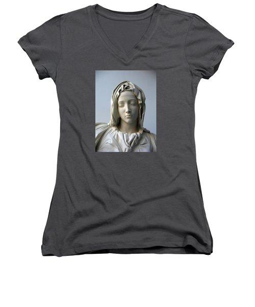Mary Women's V-Neck T-Shirt (Junior Cut) by Suhas Tavkar