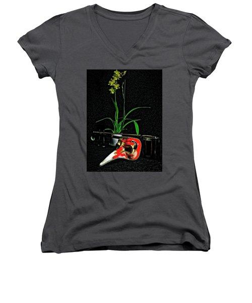 Mask For Pinnochio Women's V-Neck T-Shirt
