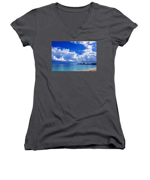 Massive Caribbean Clouds Women's V-Neck