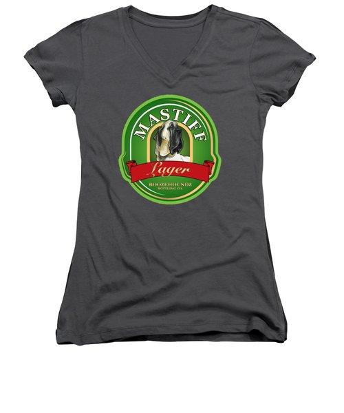 Mastiff Lager Women's V-Neck T-Shirt