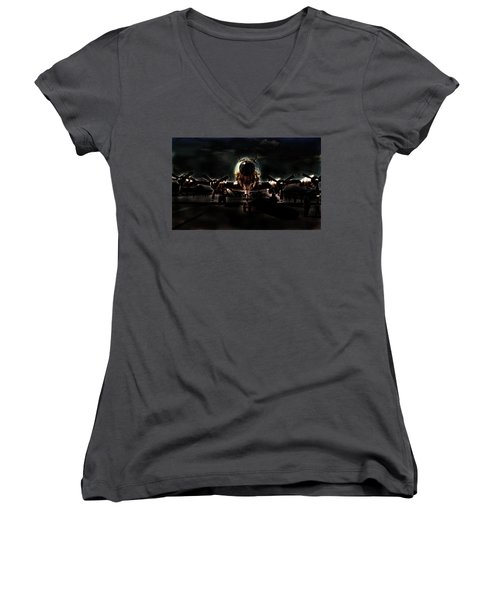 Women's V-Neck T-Shirt featuring the photograph Mats Constellation by John Schneider