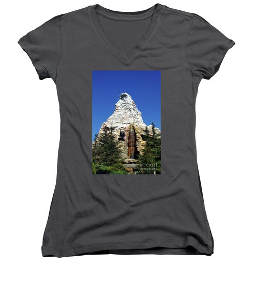 Matterhorn Disneyland Women's V-Neck T-Shirt
