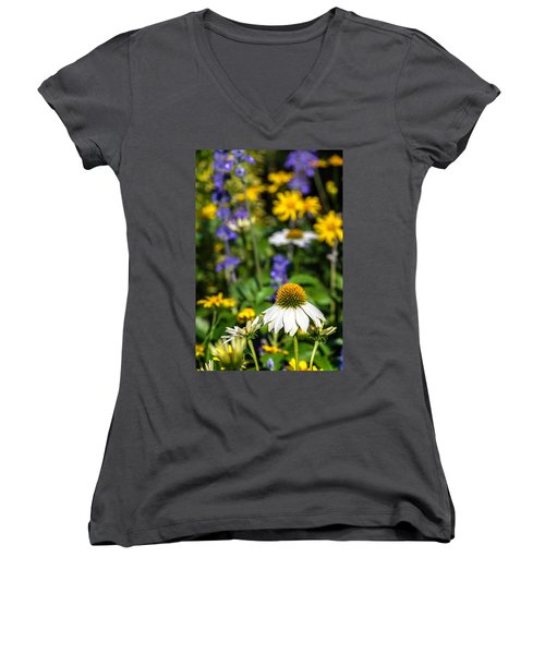 Women's V-Neck T-Shirt featuring the photograph May Flowers by Steven Sparks