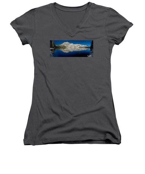 May Lake Panorama Women's V-Neck (Athletic Fit)