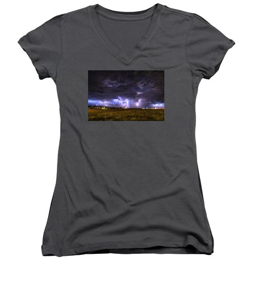 May Lightning Women's V-Neck (Athletic Fit)