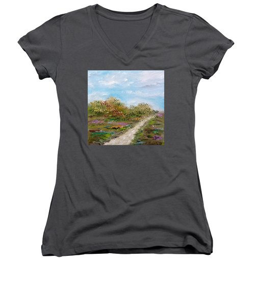 May The Road Rise Up To Meet You Women's V-Neck T-Shirt