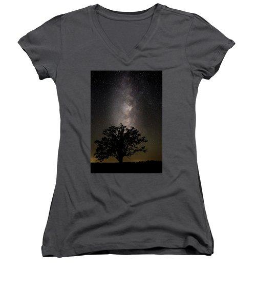 Mcbaine Bur Oak With Milky Way Women's V-Neck