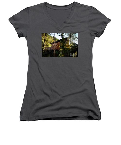 Mckee Bridge Women's V-Neck T-Shirt
