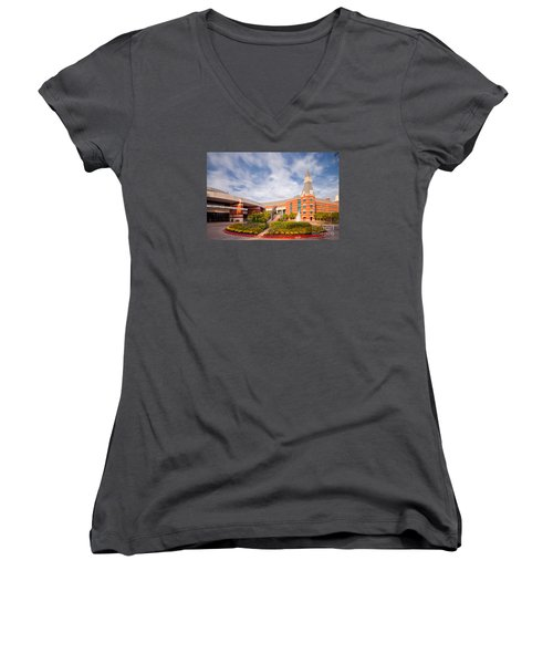 Mclane Student Life Center And Sciences Building - Baylor University - Waco Texas Women's V-Neck T-Shirt