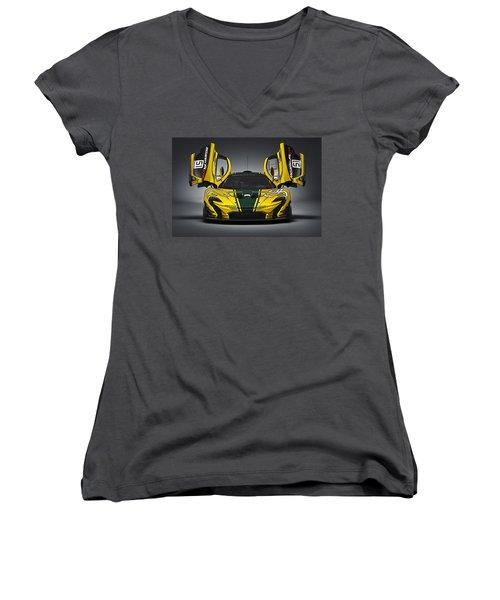 Mclaren P1 Gtr Women's V-Neck T-Shirt