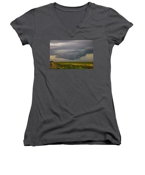 Mcluvn Nebraska Thunderstorms 018 Women's V-Neck