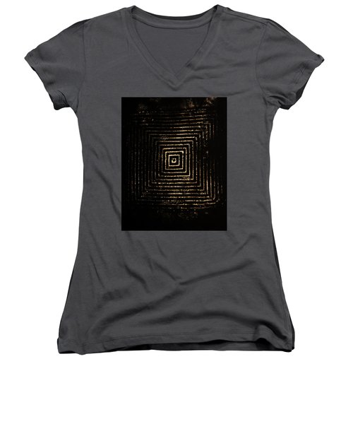 Women's V-Neck T-Shirt (Junior Cut) featuring the photograph Mcsquared by Cynthia Powell