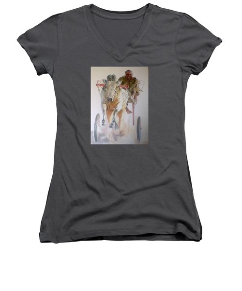 Me And My Partener Women's V-Neck T-Shirt (Junior Cut) by Khalid Saeed