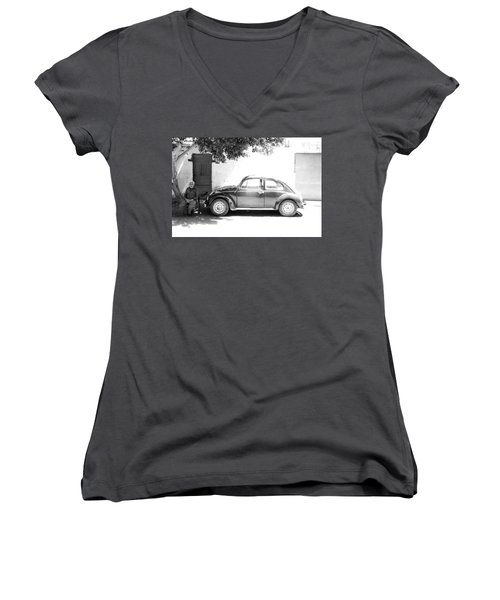 Me And The Beet Women's V-Neck T-Shirt (Junior Cut) by Jez C Self