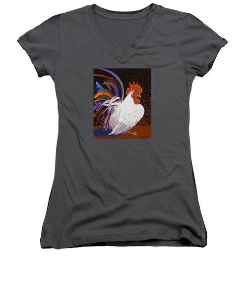 Me, Me, Me Women's V-Neck T-Shirt (Junior Cut) by Bob Coonts