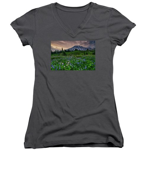 Meadows Of Heaven Women's V-Neck (Athletic Fit)