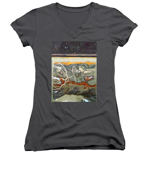 Meandering Molecules Women's V-Neck (Athletic Fit)