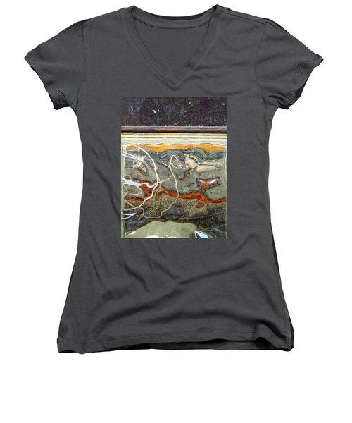 Meandering Molecules Women's V-Neck T-Shirt