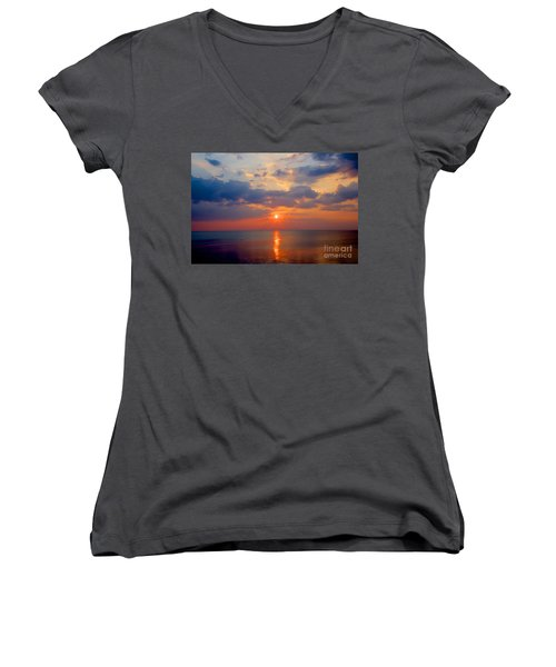 Women's V-Neck T-Shirt (Junior Cut) featuring the photograph Medium Rare by Robert Pearson