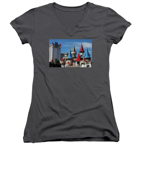 Medival Castle Women's V-Neck (Athletic Fit)