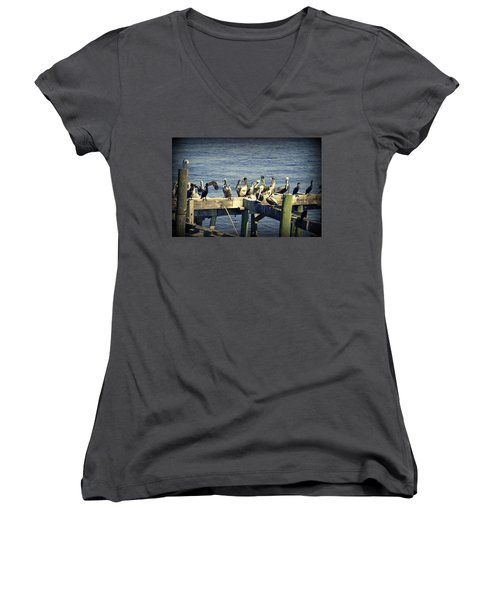 Meeting Of The Minds Women's V-Neck T-Shirt