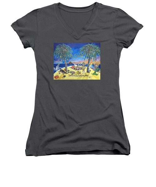 Mele Kalikimaka Women's V-Neck T-Shirt