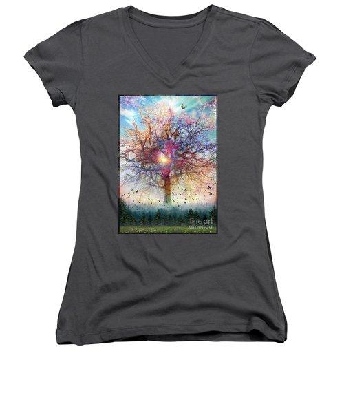 Memory Of A Tree Women's V-Neck