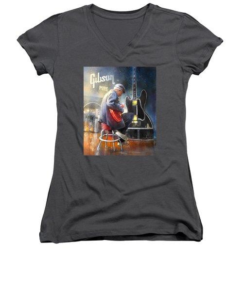 Memphis Nights 05 Women's V-Neck T-Shirt