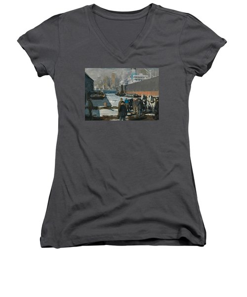 Men Of The Docks Women's V-Neck (Athletic Fit)