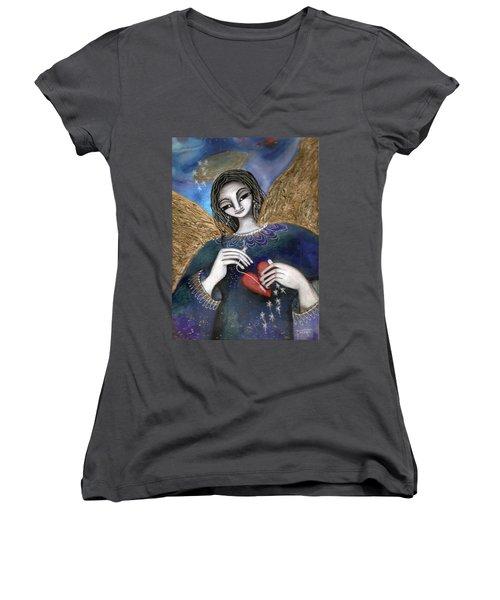 Mender Of Hearts Angel Women's V-Neck
