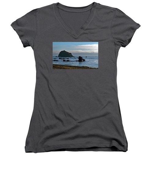 Mendocino Coast No. 1 Women's V-Neck T-Shirt