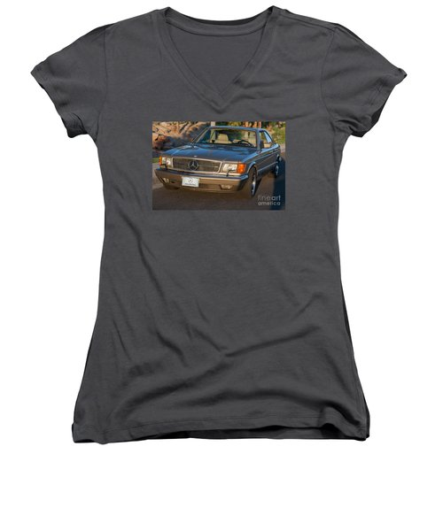 Mercedes 560sec W126 Women's V-Neck