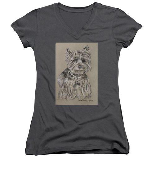 Mercedes The Shih Tzu Women's V-Neck T-Shirt