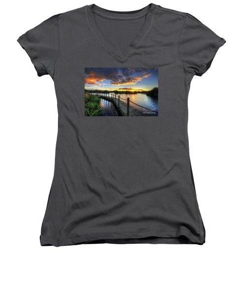 Mercia Marina 18.0 Women's V-Neck T-Shirt (Junior Cut) by Yhun Suarez