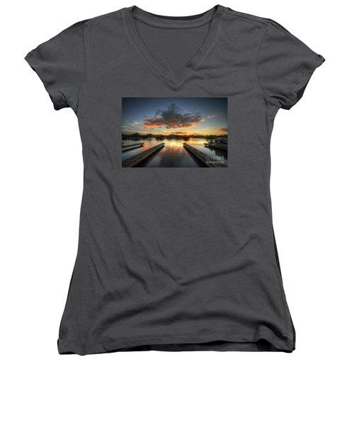 Women's V-Neck T-Shirt (Junior Cut) featuring the photograph Mercia Marina 19.0 by Yhun Suarez