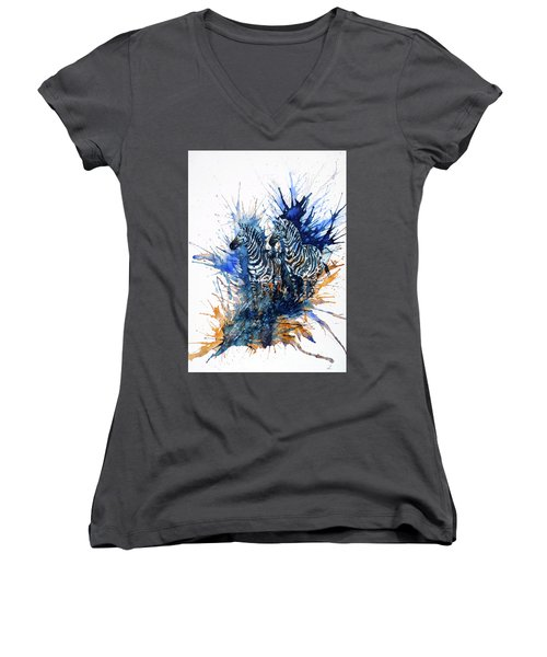 Merging With Shadows Women's V-Neck (Athletic Fit)