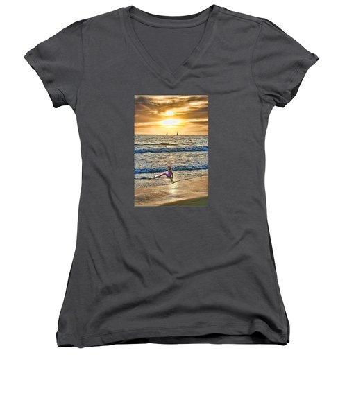 Mermaid Of Venice Women's V-Neck T-Shirt