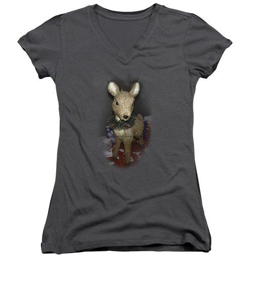 Merry Christmas Deer Women's V-Neck T-Shirt