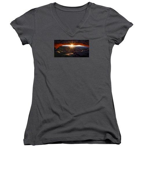 Mesa Glow Women's V-Neck T-Shirt (Junior Cut) by Chad Dutson