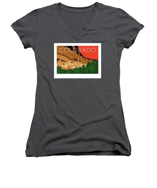 Mesa Verde Orange Women's V-Neck