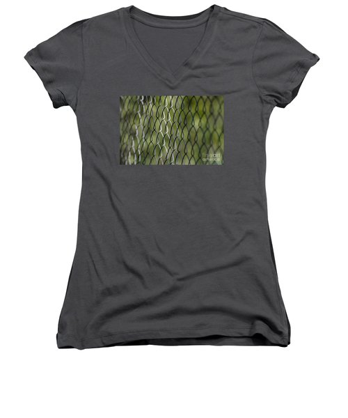 Metal Fence Women's V-Neck (Athletic Fit)