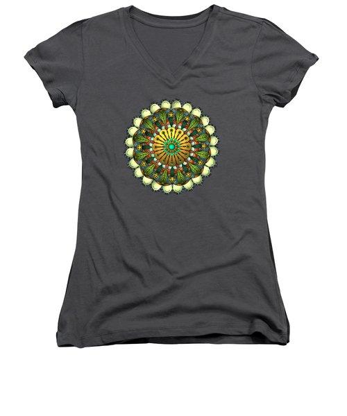 Metallic Mandala Women's V-Neck T-Shirt