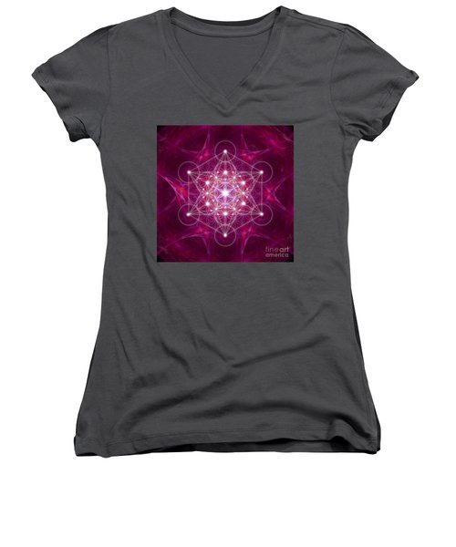 Metatron Cube Fractal Women's V-Neck