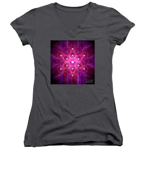 Metatron's Cube Reflection Women's V-Neck