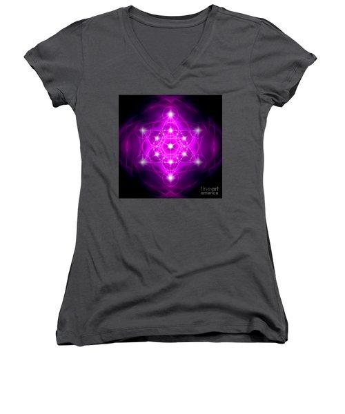 Metatron's Cube Vibration Women's V-Neck