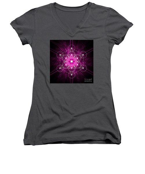 Metatron's Cube Waves Women's V-Neck