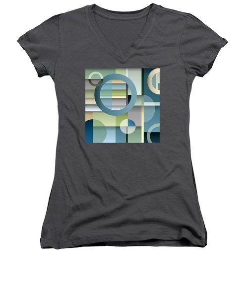 Metro Women's V-Neck T-Shirt (Junior Cut) by Tara Hutton
